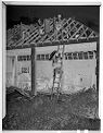 Untitled (Roof Of Brick Building Under Construction, Rose Valley, Pa)