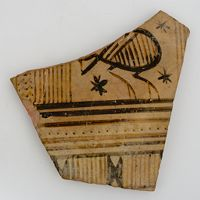 One Of Three Fragments Of Geometric Ware From Argive Heraeum