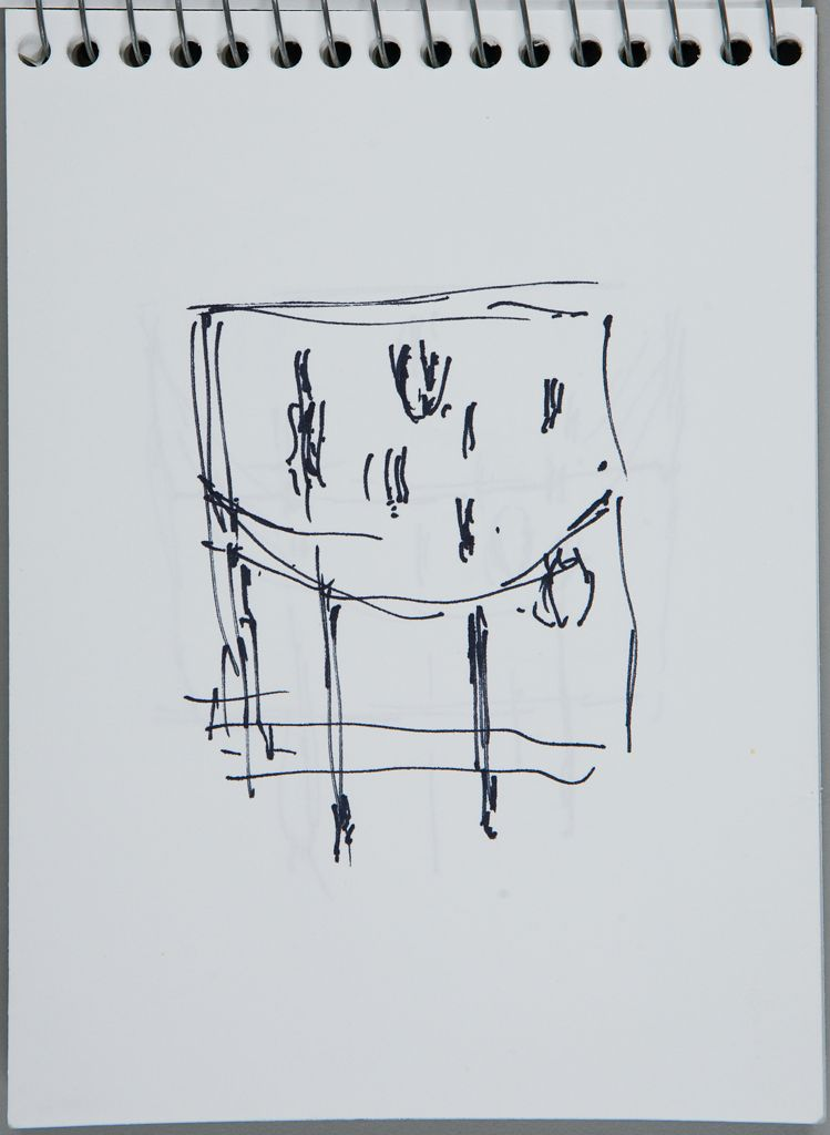 Sketch For Sculpture; Verso: Blank