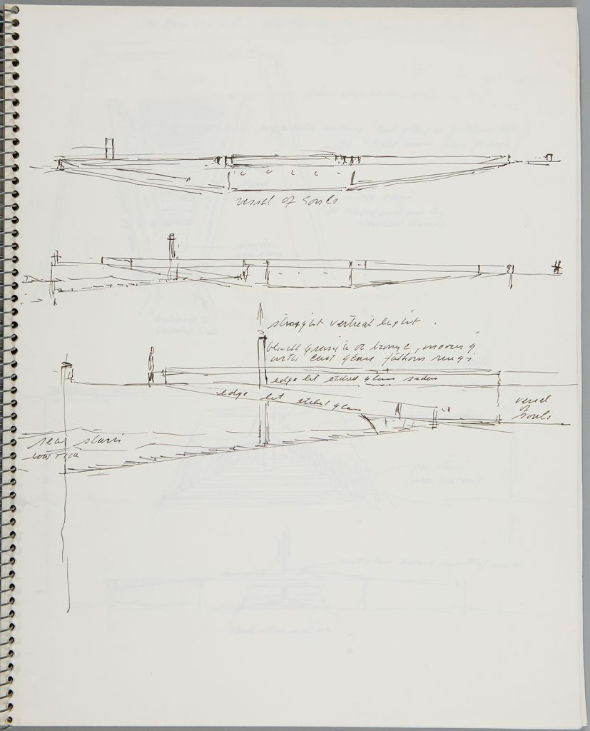 Three Sketches For Merchant Marines Memorial Project; Verso: Blank