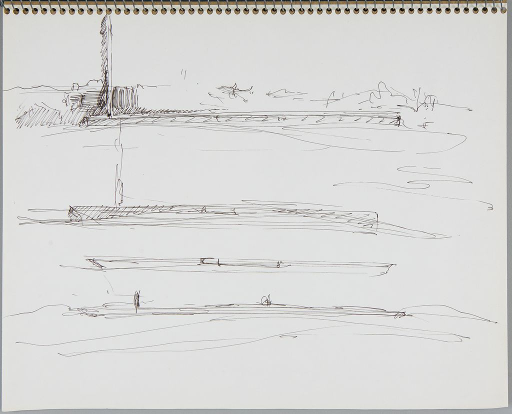 Sketches For Merchant Marines Memorial Project; Verso: Blank