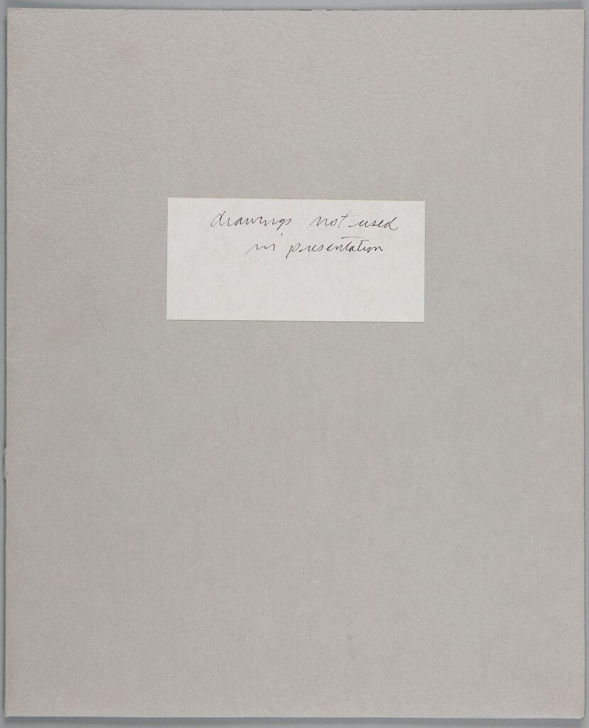 Unbound Sketchbook, (W356.1-13), 1987