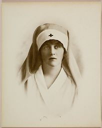Untitled (Woman In Red Cross Uniform, Vignetted)