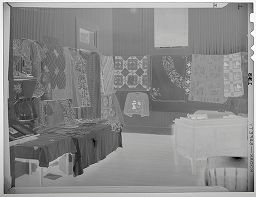 Untitled (Uhland Fair, Display Of Quilts)