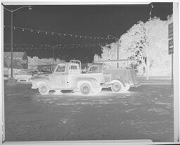 Untitled (Two Southwestern Bell Telephone Trucks)