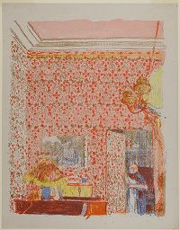 Interior With Rose Wallpaper I