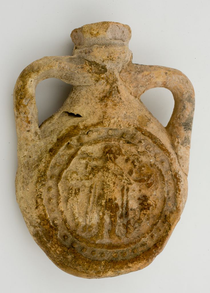 Pilgrim Flask With Scenes Of St. Menas