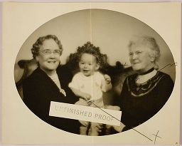 Untitled (Proof Print: Two Women In Black Dresses With Toddler)