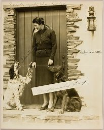 Untitled (Proof Print: Woman In Doorway With Two Dogs)