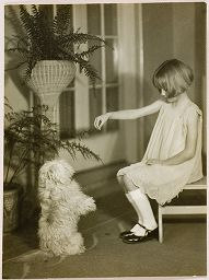 Untitled (Proof Print: Young Girl With Dog Sitting Up On Hind Legs)