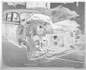 Untitled (View Of Front And Corner Of Wrecked Car With Open Hood)