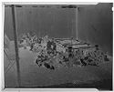Untitled (View Of Outdoor Burial Site Enclosed In Tent Before Casket Lowering)