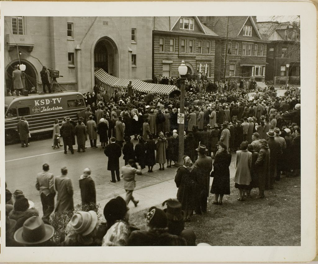 Untitled (Crowds Outside Church)