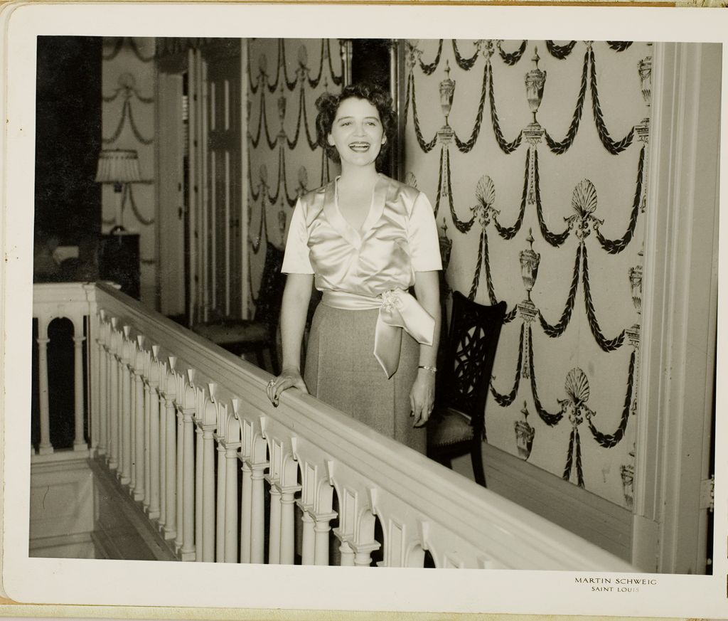 Untitled (Bride Standing At Banister)