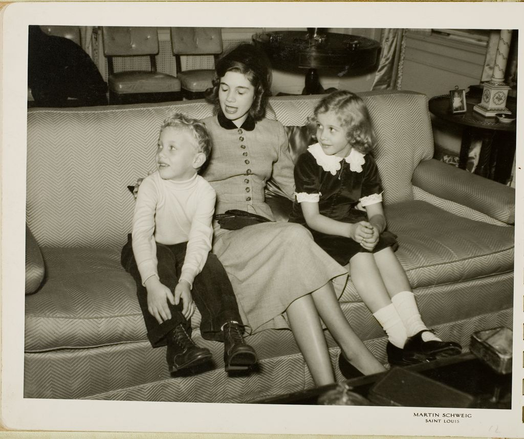 Untitled (Woman On Couch With Two Children)