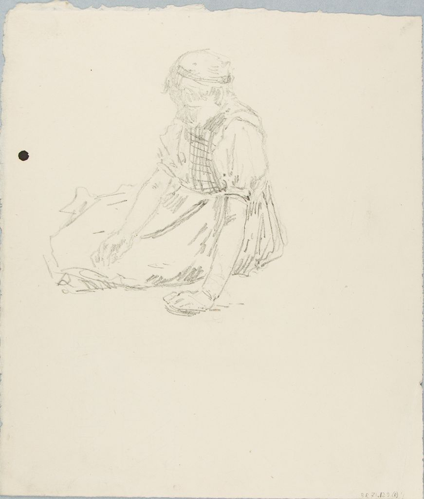 Sketch Of A Seated Woman; Verso: Sketch Of A House
