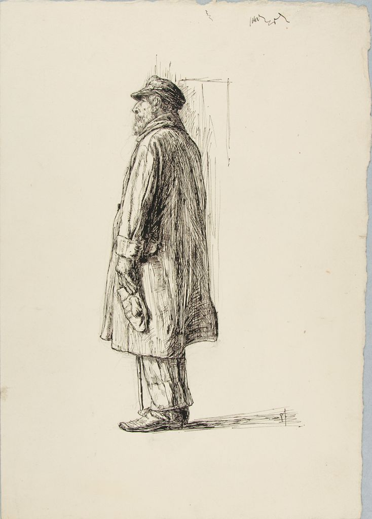 Sketch Of A Bearded Man