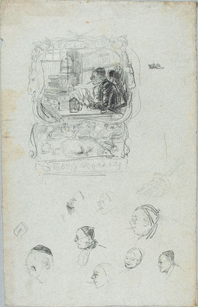 Sketch For A Bookplate