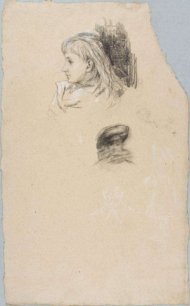 Sketches Of A Girl And A Man's Head
