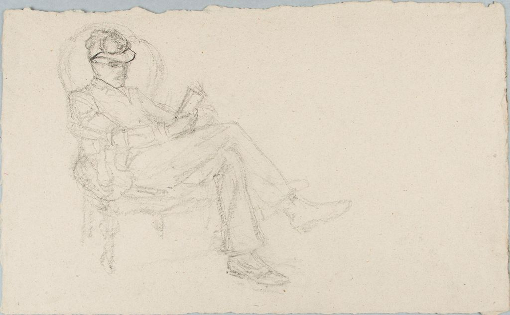 Sketch Of A Reading Man