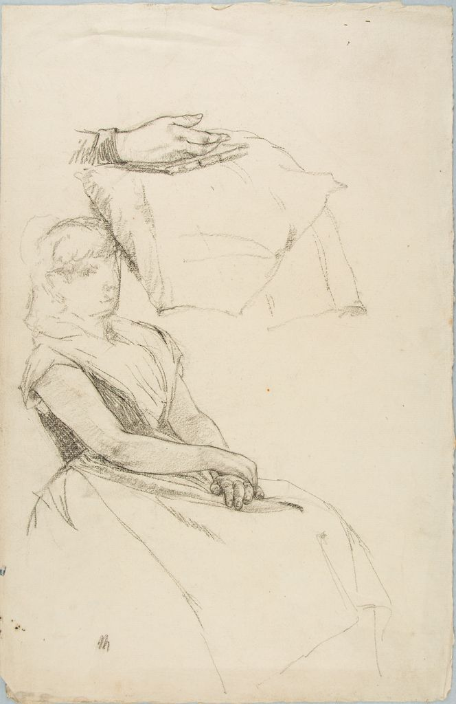 Sketches Of A Seated Woman