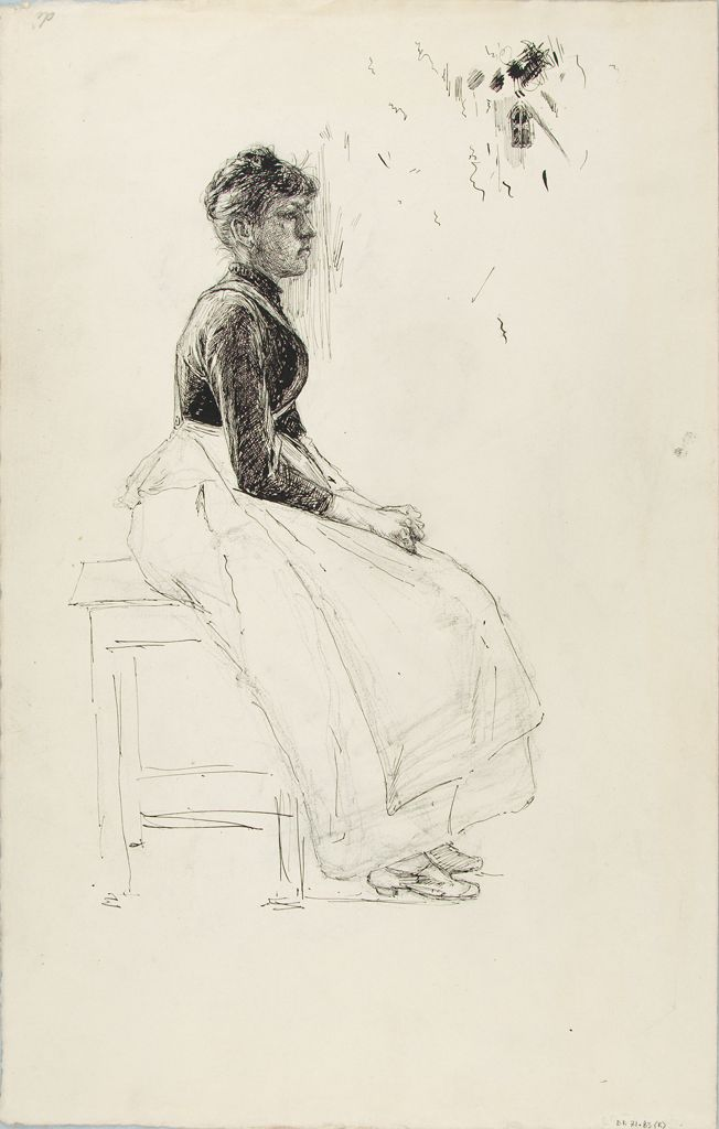 Seated Woman; Verso: Sketches Of Human Heads And Animals