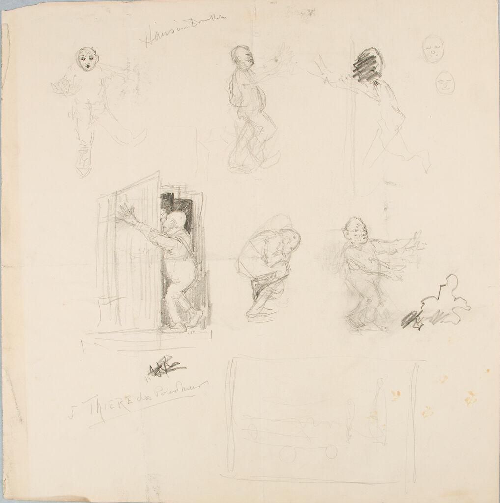 Studies Of Caricatures In Different Poses
