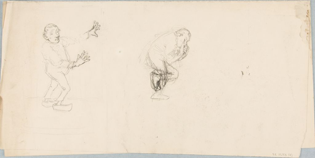 Studies Of Facial Expressions And Poses; Verso: Sketches Of A Seated Man And Standing Women