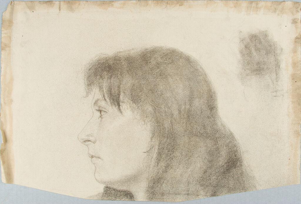 Drawing Of A Women`s Head