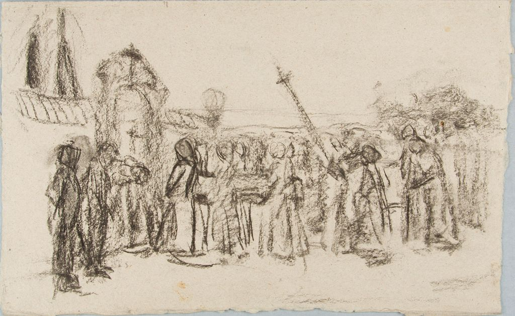 Sketch Of A Funeral Or Procession I