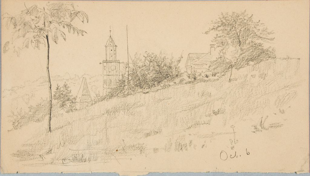 Sketch Of A Landscape With A Tower  (October 6Th)