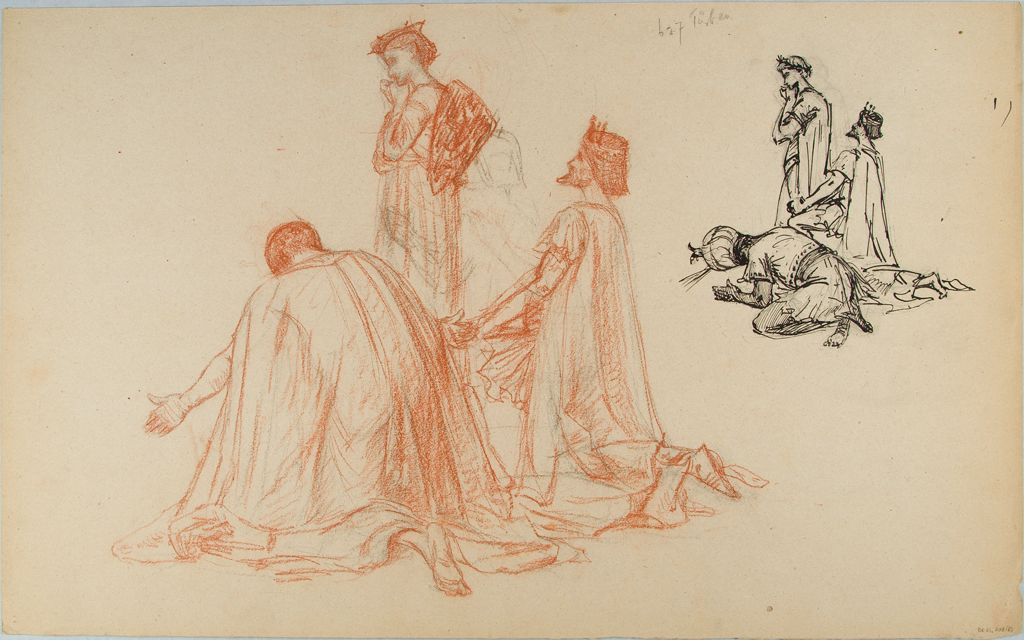 Sketches Of The Three Kings; Verso: Sketches Of Male Figures