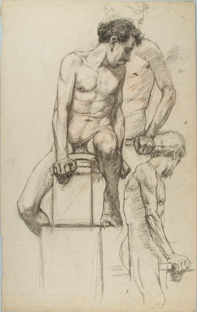 Sketches Of A Seated, Male Nude