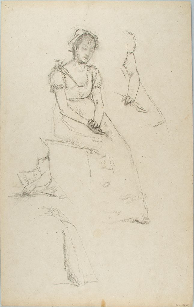 Sketches Of A Seated Woman; Verso: Sketches Of A Woman