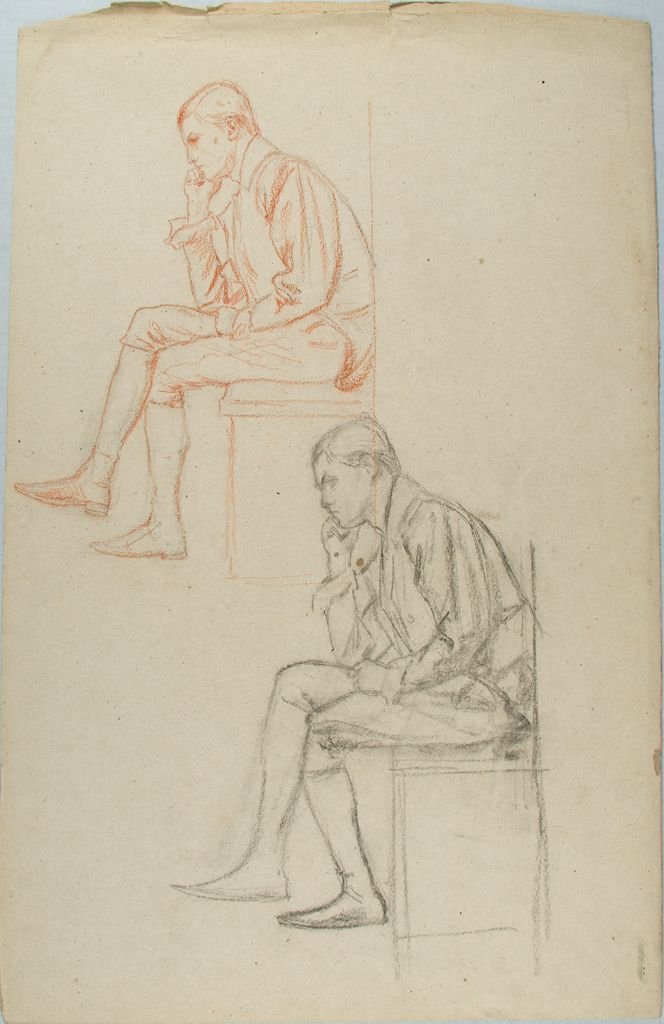 Sketches Of A Seated Man