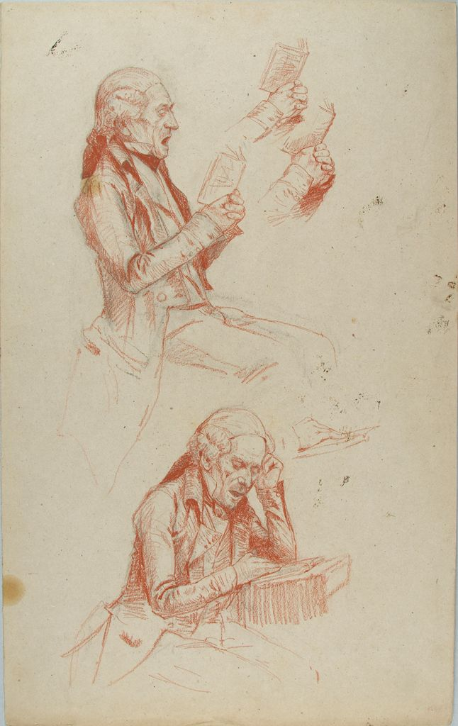 Studies Of A Man Reading A Book
