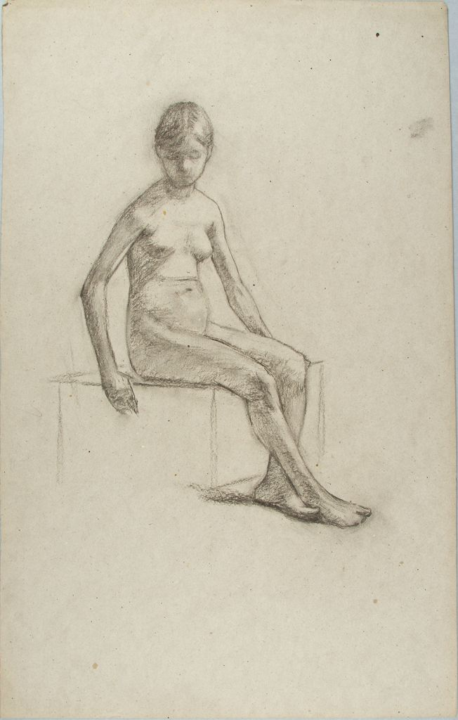 Sketch Of A Nude Girl