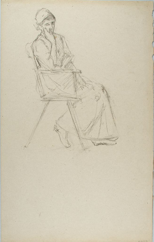 Sketch Of A Seated Woman; Verso: Sketch Of A Seated Man