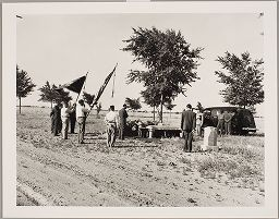 Untitled (Men At Funeral In Open Space, Albuquerque, New Mexico)