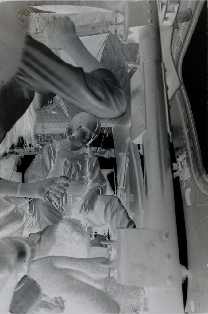 Untitled (Soldiers And Wounded Inside Medevac Helicopter, Vietnam)