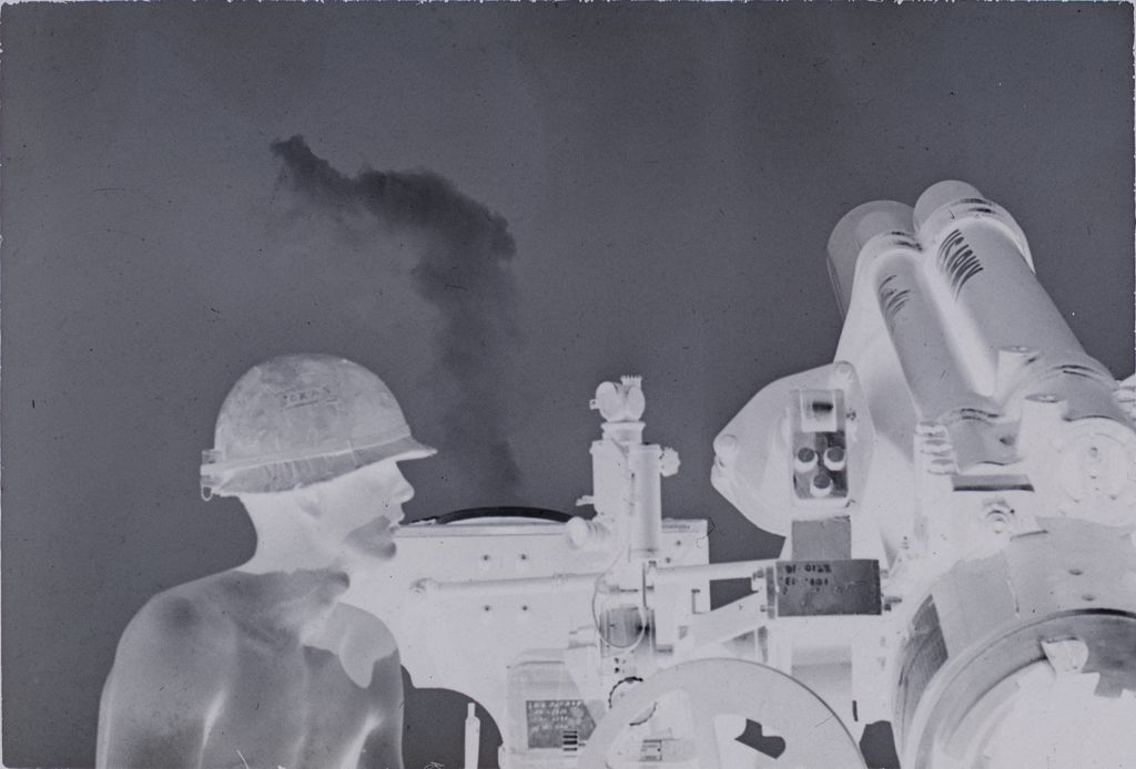 Untitled (Soldier Standing By Missile Launch, Vietnam)