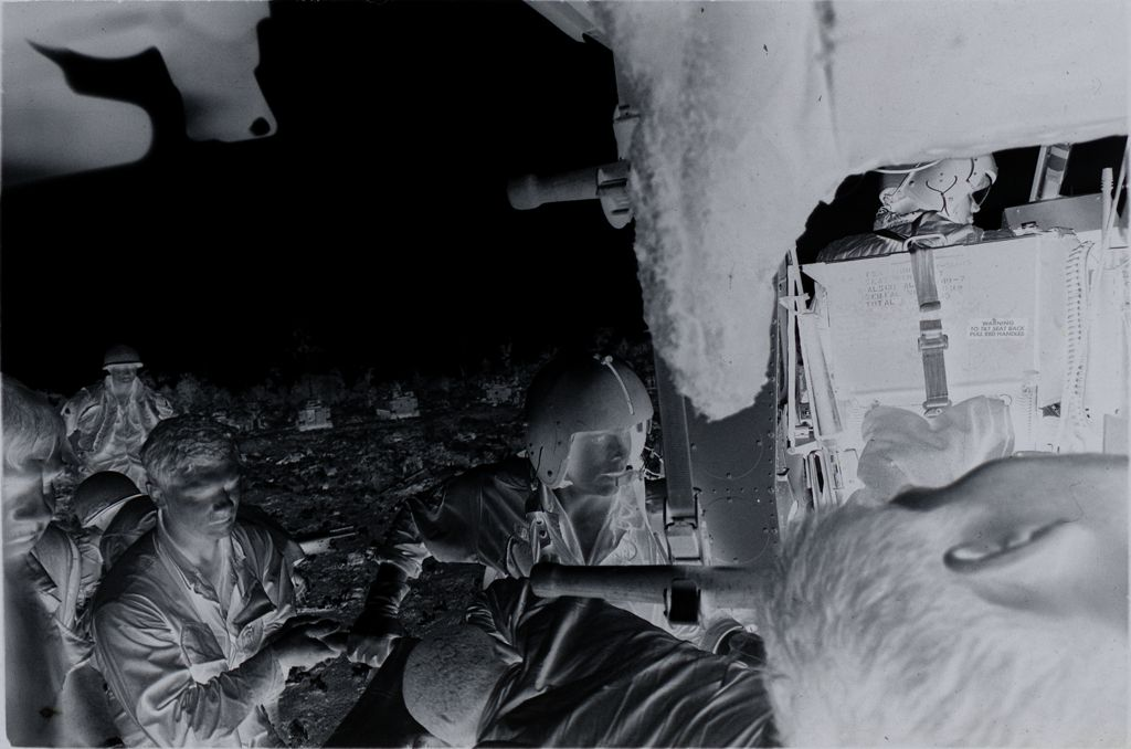Untitled (Members Of 57Th Medical Detachment Loading Wounded Soldiers Of 9Th Infantry Division Into Medevac Helicopter, Vietnam)