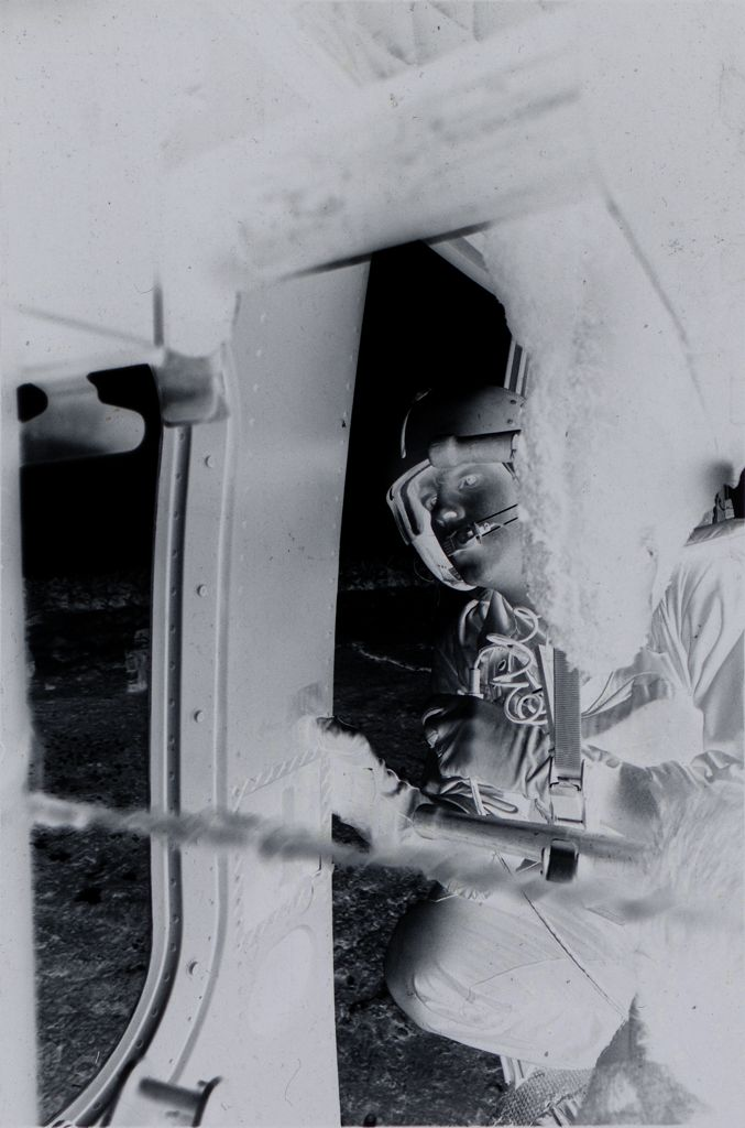 Untitled (Member Of 57Th Medical Detachment And Wounded Soldiers Inside Medevac Helicopter, Vietnam)