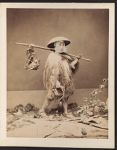 Work 5 of 27 Title: Japanese man wearing straw raincoat (min... Date: 187-?