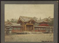 Work 27 of 27 Title: Temple gate, Shiba, Tokio Creator: Kusakabe, Kimbei Date: 188-?