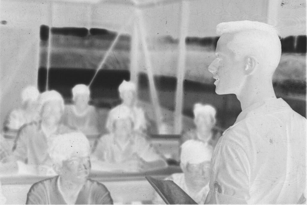 Untitled (U.s. Soldier Talking To Vietnamese Class, Vietnam)