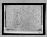 Total Theater for Erwin Piscator, Berlin, 1927: Ground floor plan for model (cancelled), 1:100