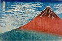 Mount Fuji Viewed During A Fine Wind On A Clear Morning (Gaifū Kaisei), From The Series Thirty-Six Views Of Mount Fuji (Fugaku Sanjūrokkei)