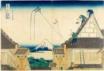 The Mitsui Shop on Suruga Street in Edo (Edo Suruga-chō Mitsui-mise ryakuzu), from the series Thirty-Six Views of Mount Fuji (Fugaku sanjūrokkei)