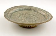 Dish with Stylized Floral Decor